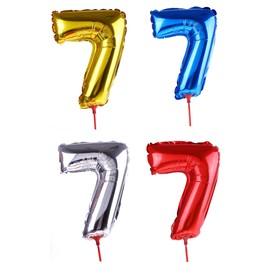 "Balloon foil 14"", figure 7, with a stick MIX color"