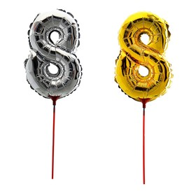 "Balloon foil 14"", figure 8, with a stick MIX color"