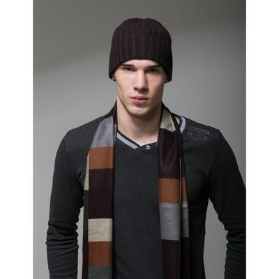 """Шапка шерстяная мужская """"Амадео"""", размер 56-58, цвет коричневый"""