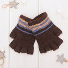 "Wool mittens for boys Collorista ""Marty"", size 14 (R-R MFR. 16*7 cm)"