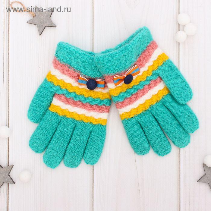 """Перчатки шерстяные для девочек Collorista """"Леонора"""", размер 14 (р-р произв. 16*7 см)"""