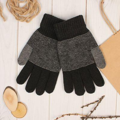 """Перчатки шерстяные мужские """"Фотис"""", размер 10, цвет серый"""