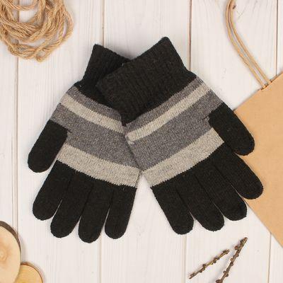 """Перчатки шерстяные мужские """"Эрос"""", размер 10, цвет серый"""