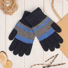 """Перчатки шерстяные мужские """"Креон"""", размер 10, цвет серый/синий"""