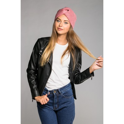 "Шапка-чалма женская ""Восточная краса"", размер 54-56, цвет розовый"