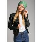 "Шапка-чалма женская ""Восточная краса"", размер 54-56, цвет зелёный"