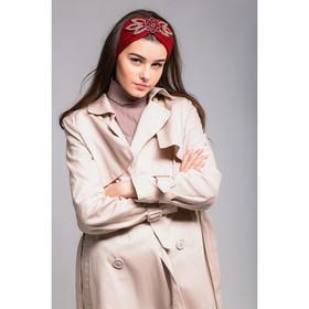 """Повязка женская """"Ламия"""", размер 54-56, цвет терракотовый"""
