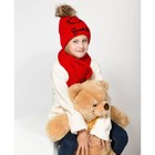 Комплект зимний с подкладом для девочки, воз-т 3-5 лет,красный