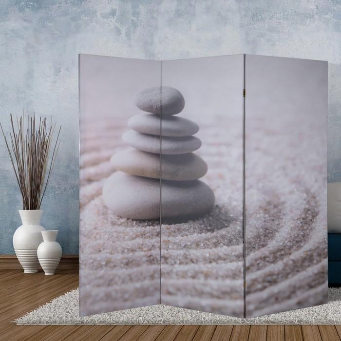 """Ширма """"Камни на песке"""", 160 × 150 см"""