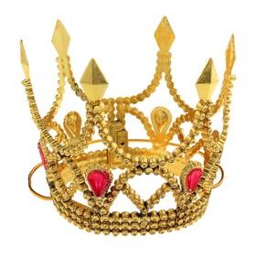 """Корона """"Принцессы"""" на веревочке золото"""