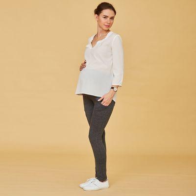 Легинсы тёплые для беременных (высокие), размер 46-48 (ХL), цвет серый