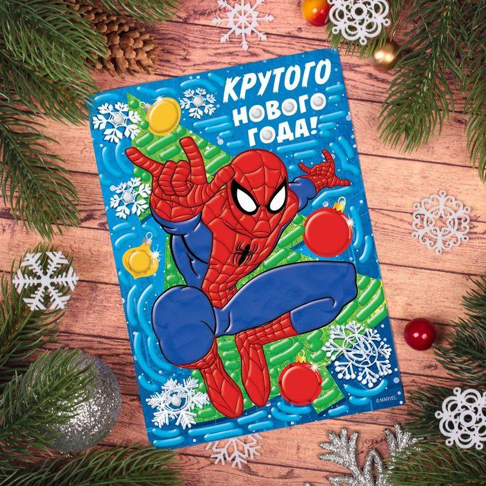 """Аппликация пластилином """"Крутого Нового года"""" Человек-паук, 6 цветов пластилина по 10 гр, стека 226"""