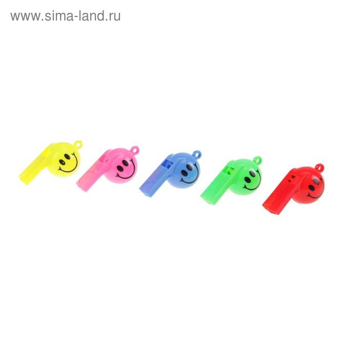 "Свисток ""Смайл"", цвета МИКС"