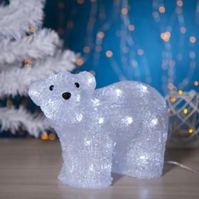 """Фигура акрил. """"Медведь стоячий малый"""" 28х15х25 см, контр. с димером, 40 LED, 220V"""