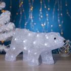"""Фигура акрил. """"Медведь стоячий"""" 45х15х23 см, контр. с димером, 40 LED, 220V"""