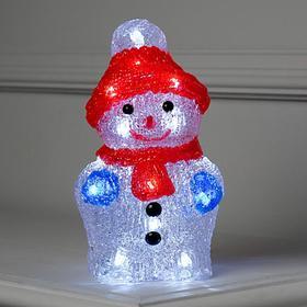 "Фигура акрил. ""Снеговичок на батарейках"" 11х11х22 см,(АА*2 шт.не в компл.), 24 LED"