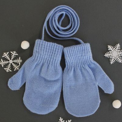 Mittens on a string Collorista, size 14 (R-R MFR. 12*7 cm), color blue