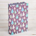Коробка‒книга подарочная «Новогодние ёлочки», 11 × 18 см