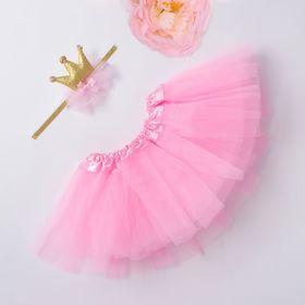"""Набор Крошка Я """"Маленькая принцесса"""" юбка и повязка на голову 3-18 мес, розовый"""