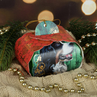 "Полотенце махровое Collorista ""Счастливого Нового года"" 30 х 30 см, 100% хлопок 450гр/м2"
