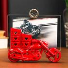 "Plastic photo frame 10x15 cm ""Racing motorcycle"" MIX 15х14х8 cm"