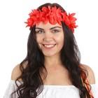 Гавайский венок, цвет красный