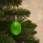 "Подвеска световая ""Пружинка зеленая"" (батарейки в комплекте), 7 см, 1 LED, RGB"