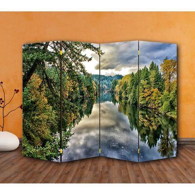"Ширма ""Лесная река"", 200 × 160 см"