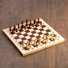 Доска шахматная гроссмейстерская, без фигур, 43х43 см