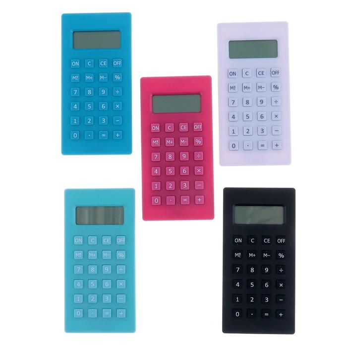 Калькулятор карманный, 8-разрядный, МИКС - фото 447543861