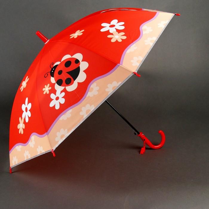 """Зонт детский """"Божья коровка"""", полуавтоматический, r=40см, цвет красный"""