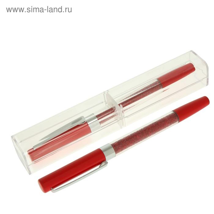 Ручка шариковая подарочная в пластиковом футляре NEW STRAZ бордо