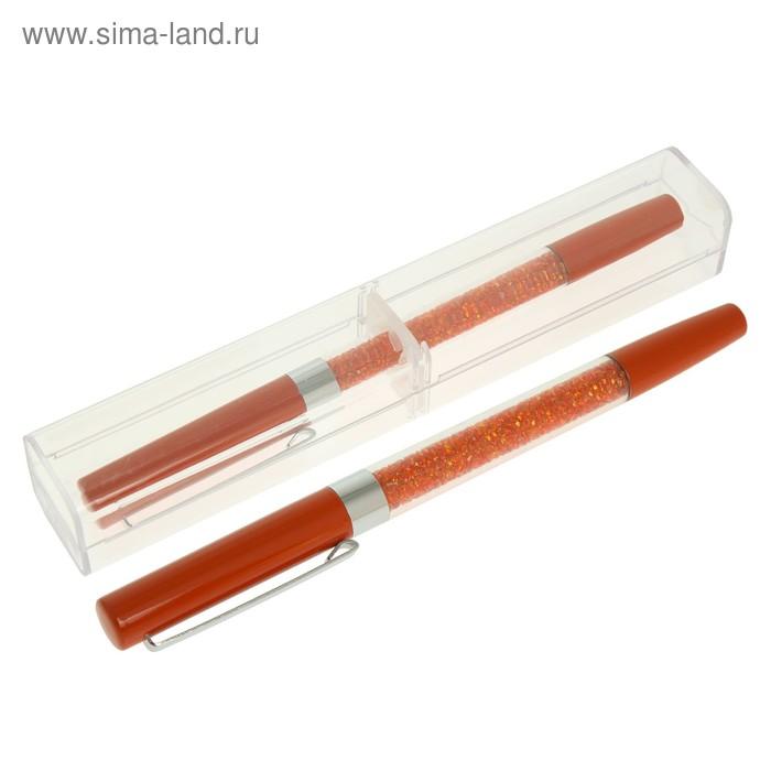 Ручка шариковая подарочная в пластиковом футляре NEW STRAZ оранжевая