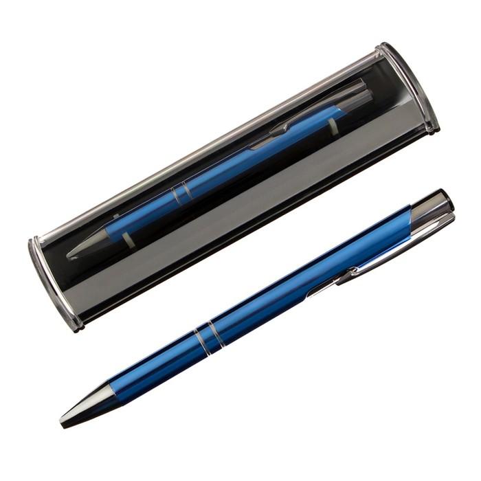 Ручка подарочная, шариковая, автоматическая, в пластиковом футляре, «NEW Стиль», синяя - фото 797845107