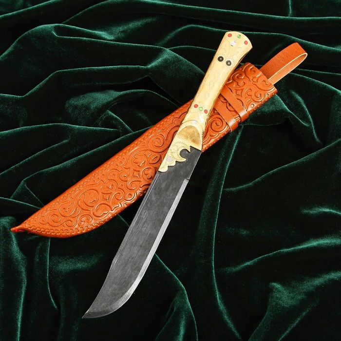 Пчак Шархон, рукоять из латуни, гарда с узором