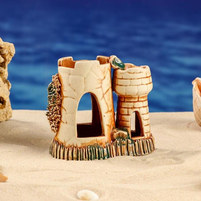 "Аквадекор для аквариума ""Башня"", керамика"