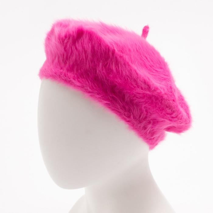 """Берет шерстяной женский """"Лайла"""", размер 54-56, цвет розовый"""