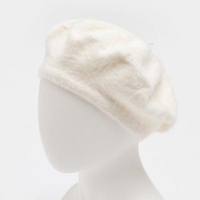 """Берет шерстяной женский """"Лайла"""", размер 54-56, цвет белый"""