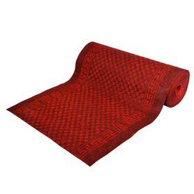 Ковёр влаговпитывающий Siesta 100 х 1500 см, без подложки, цвет красно-чёрный