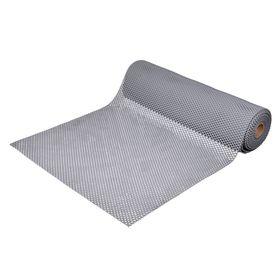 Ковёр-дорожка ПВХ «Шашки», 4,5 мм, 0,9 х 10 м, против скольжения, цвет серый