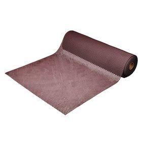 Ковёр-дорожка ПВХ «Шашки», 4,5 мм, 0,9 х 10 м, против скольжения, цвет коричневый