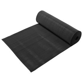 Ковёр-дорожка ПВХ Zig-Zag, 8 мм, 0,9 х 10 м, против скольжения, цвет чёрный