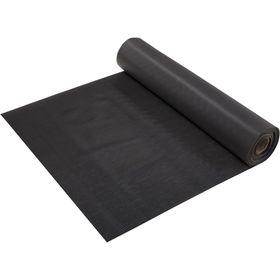 Ковёр-дорожка ПВХ «Полоска», 2,3 мм, 0,9 х 10 м, против скольжения, цвет чёрный