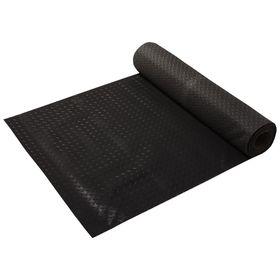 Ковёр-дорожка резиновый «Рифленный», 3 мм, 1,0*10 м, против скольжения, цвет чёрный