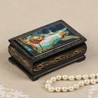 Шкатулка «Ангел с детьми», 6х9 см, лаковая миниатюра