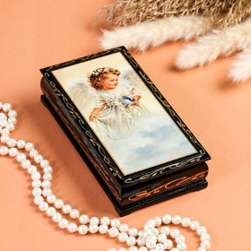 "Box - copernica ""angel on cloud"", 8,5×17 cm, lacquer miniature"