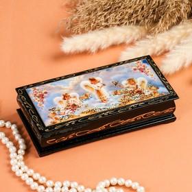 "Box - copernica ""Angels in clouds"", 8,5×17 cm, lacquer miniature"