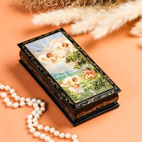 "Box - copernica ""Playful angels"", 8,5×17 cm, lacquer miniature"