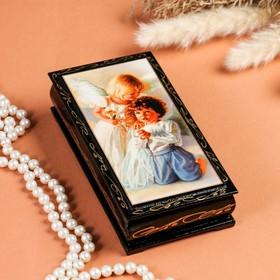 "Box - copernica ""Angels"", 8,5×17 cm, lacquer miniature"