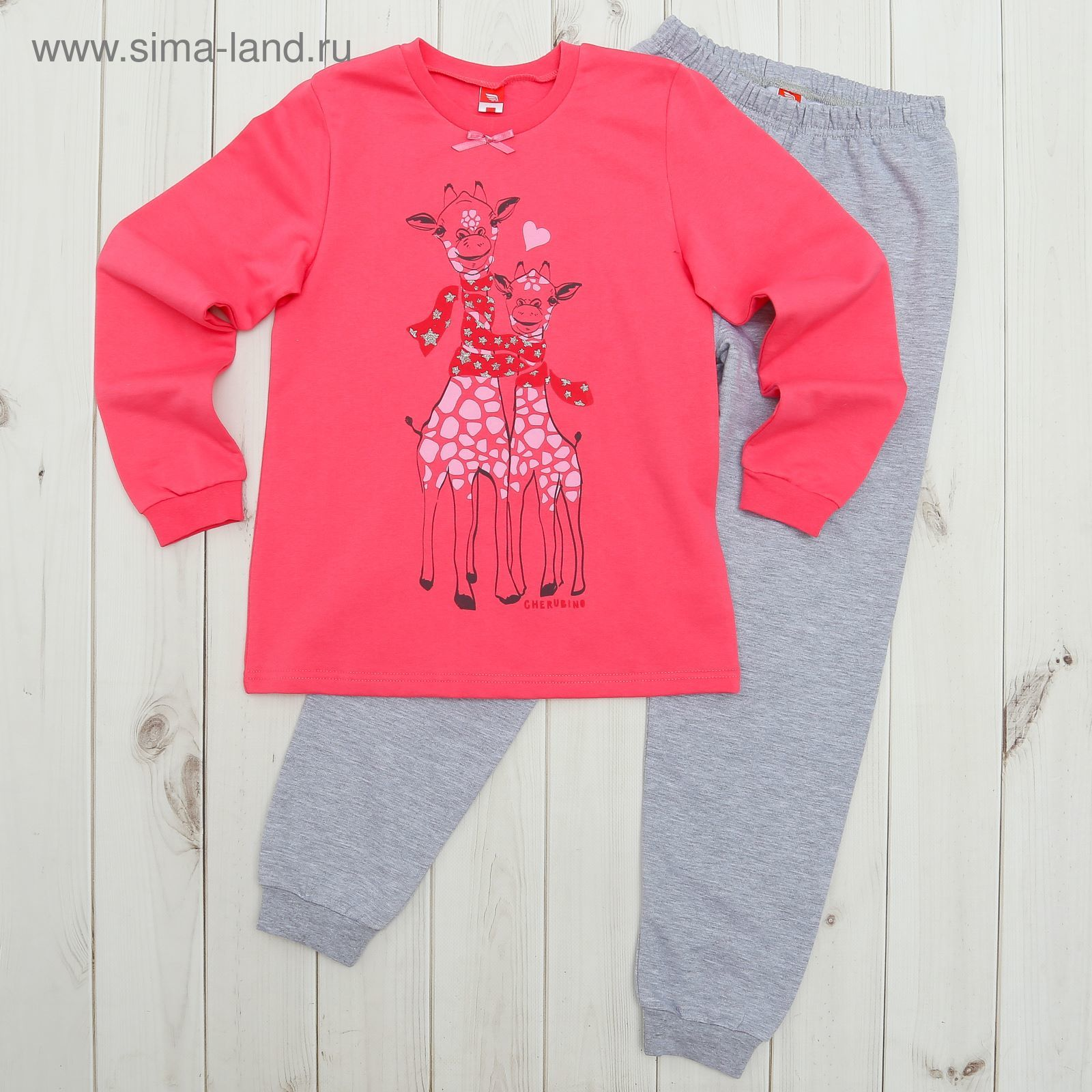 Пижама для девочки, рост 152 см, цвет розовый CAJ 5318 (CAJ 5318 ... fc0bfac8b9b